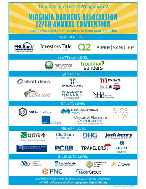2020 Annual Convention Sponsors