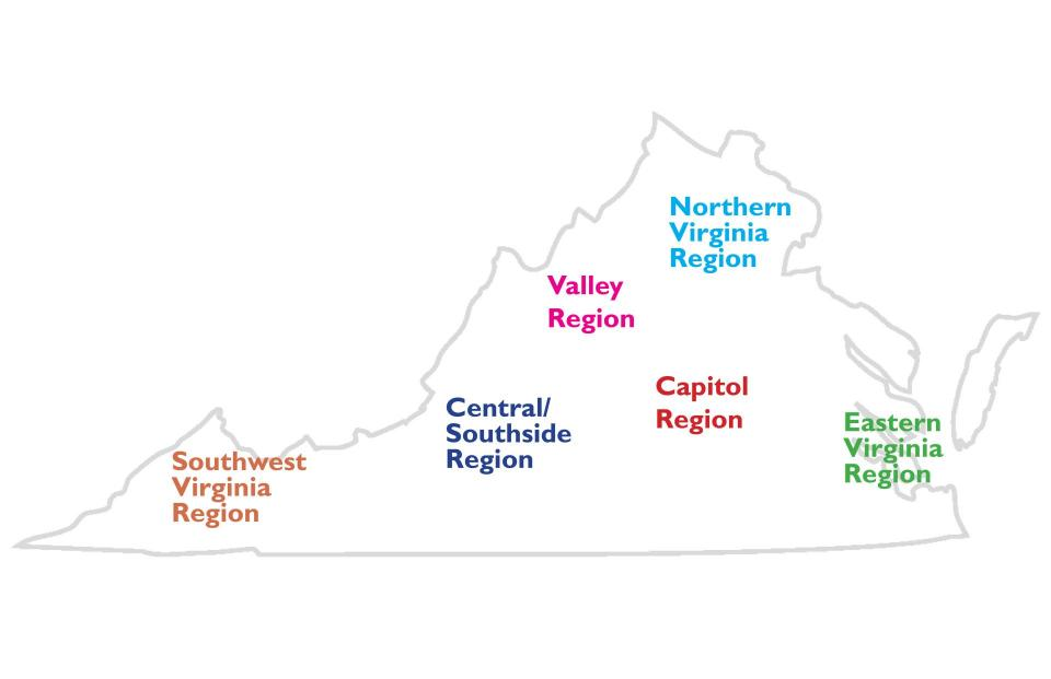 Regions of Virginia image